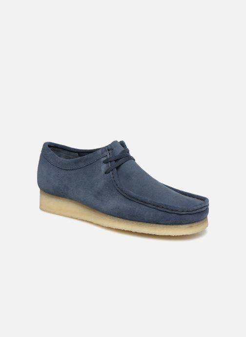 Chaussures à lacets Clarks Originals Wallabee M Bleu vue détail/paire