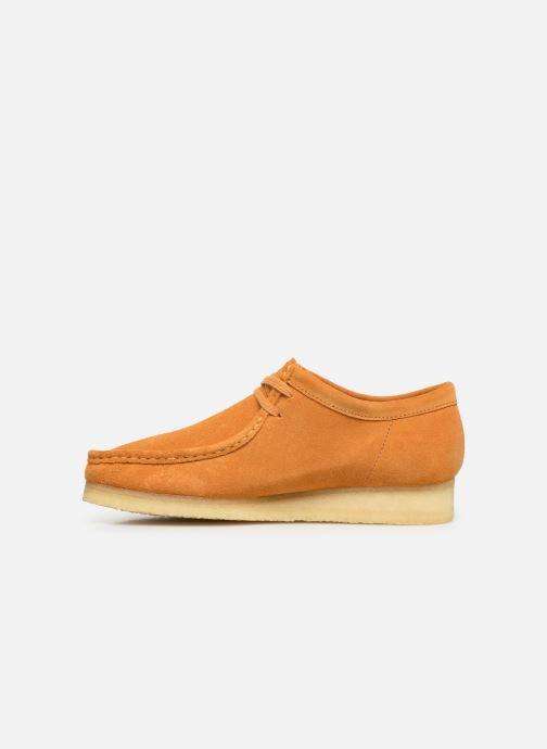 Zapatos con cordones Clarks Originals Wallabee Amarillo vista de frente