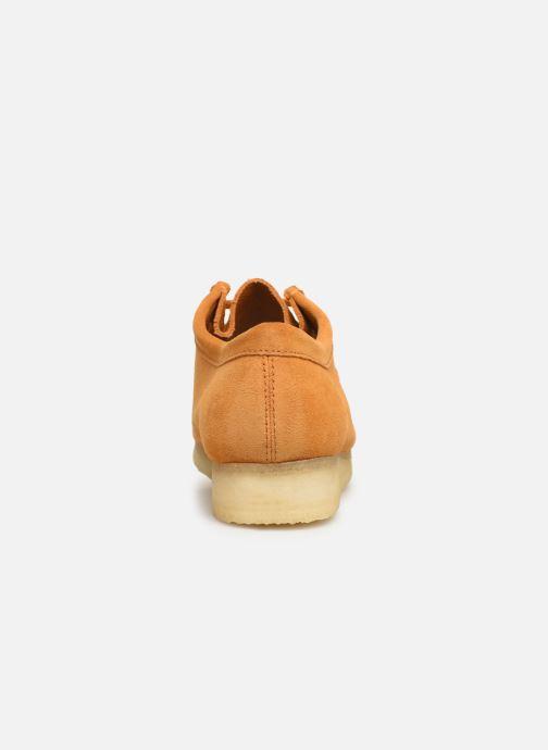 Zapatos con cordones Clarks Originals Wallabee Amarillo vista lateral derecha