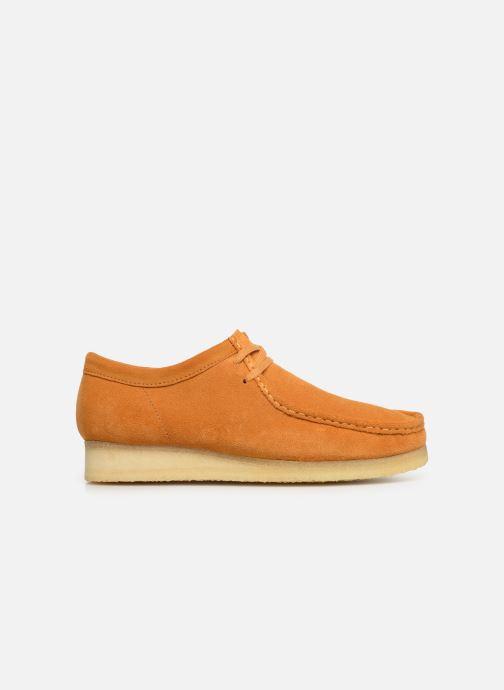 Zapatos con cordones Clarks Originals Wallabee Amarillo vistra trasera