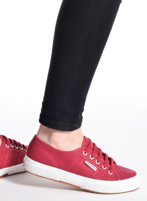 Sneaker Superga 2750 Cotu W schwarz ansicht von unten / tasche getragen