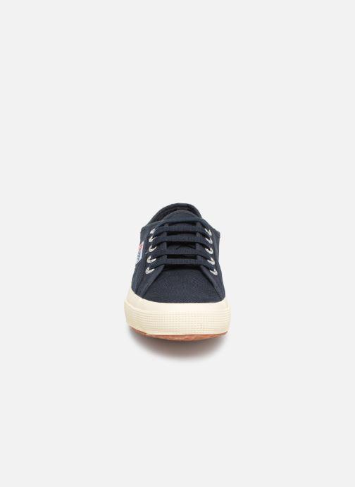 Baskets Superga 2750 Cotu W Bleu vue portées chaussures