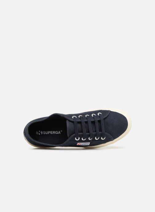 Sneaker Superga 2750 Cotu W blau ansicht von links