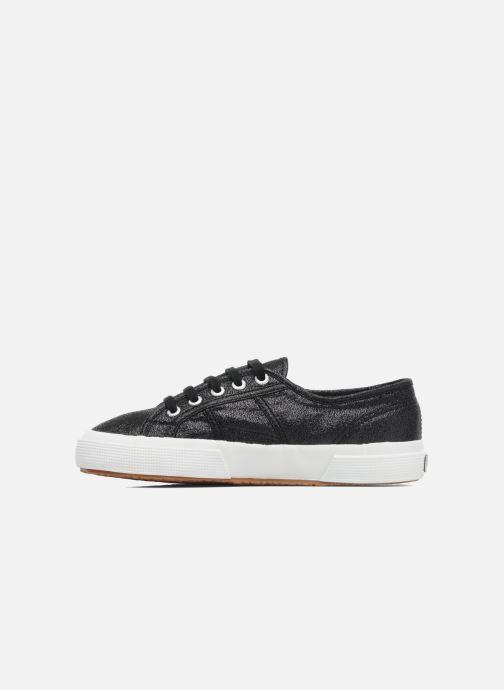 Sneaker Superga 2750 Lame W schwarz ansicht von vorne