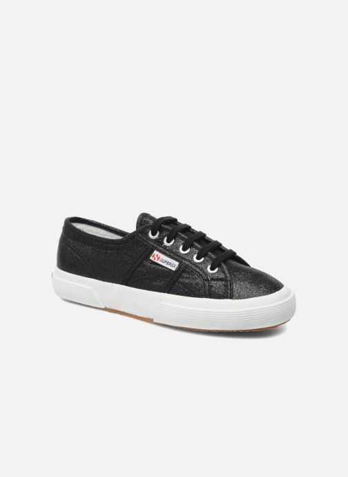 Trainers Superga 2750 Lame W Black detailed view/ Pair view