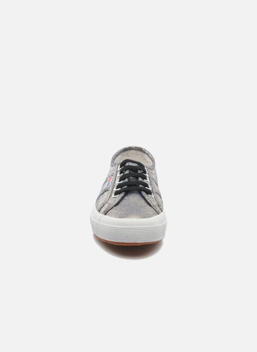 Sneaker Superga 2750 Lame W grau schuhe getragen