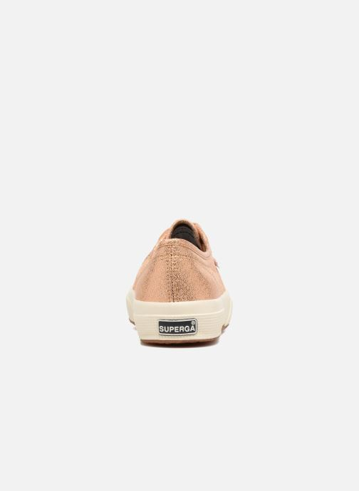 Baskets Superga 2750 Lame W Or et bronze vue droite