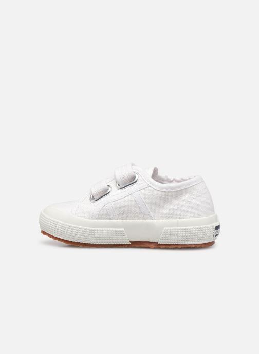 Sneakers Superga 2750 J Velcro E Bianco immagine frontale
