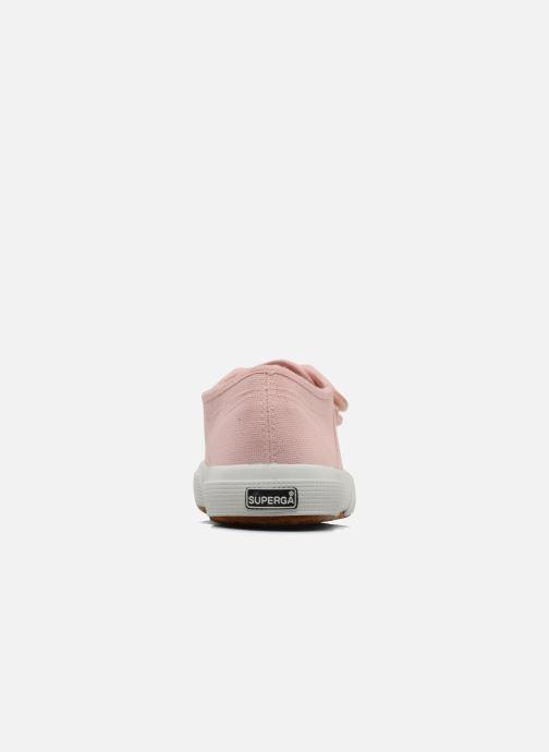 Sneaker Superga 2750 J Velcro E rosa ansicht von rechts