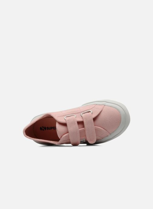 Trainers Superga 2750 J Velcro E Pink view from the left