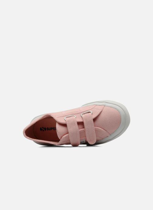 Sneaker Superga 2750 J Velcro E rosa ansicht von links