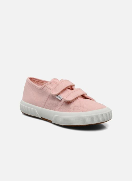 Trainers Superga 2750 J Velcro E Pink detailed view/ Pair view