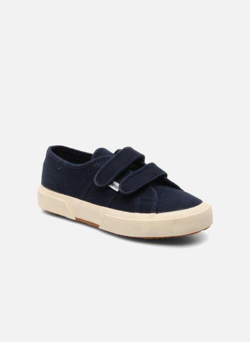 Sneakers Superga 2750 J Velcro E Blå detaljeret billede af skoene