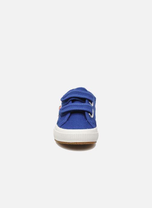 Deportivas Superga 2750 J Velcro E Azul vista del modelo