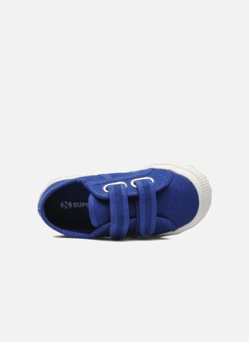 Deportivas Superga 2750 J Velcro E Azul vista lateral izquierda