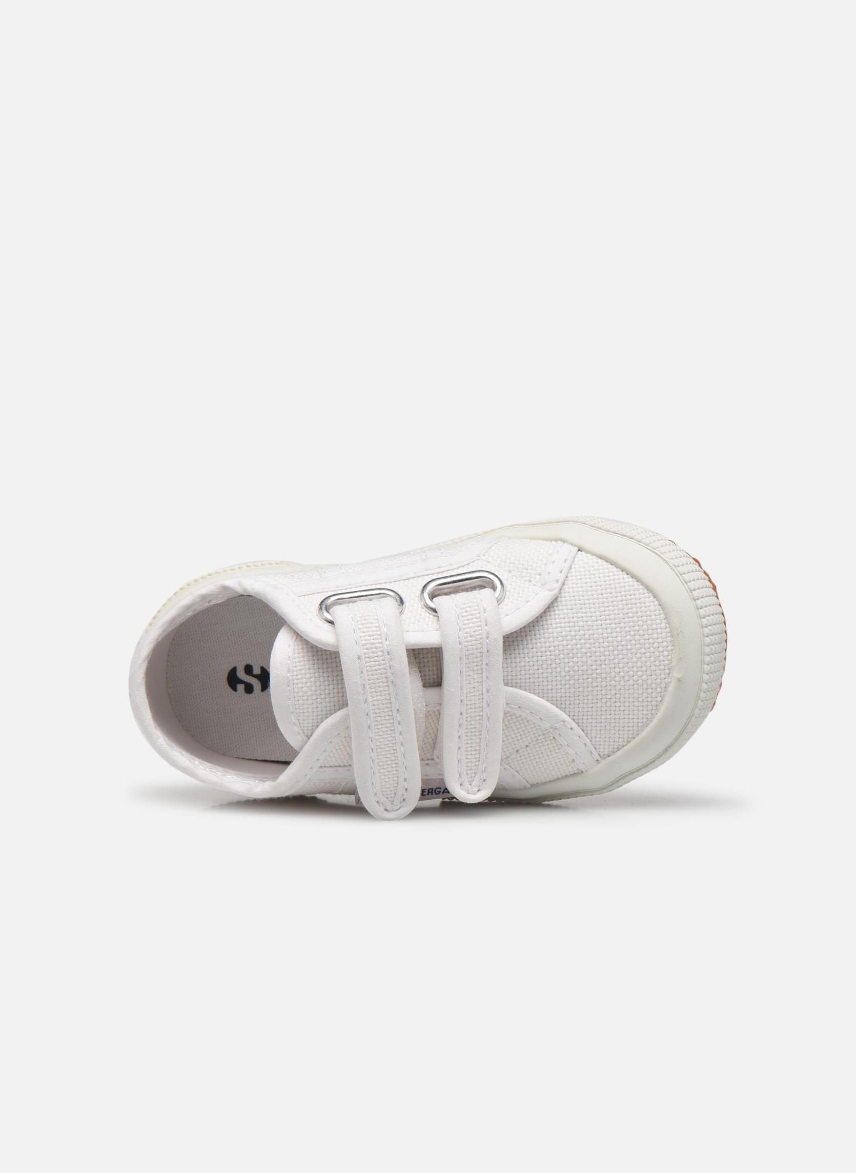 Baskets Superga 2750 J Velcro E Blanc vue gauche