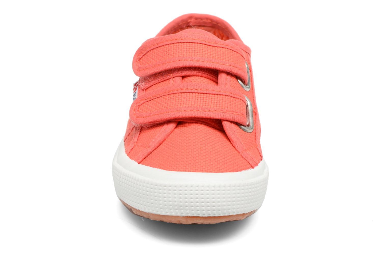Baskets Superga 2750 J Velcro E Rouge vue portées chaussures