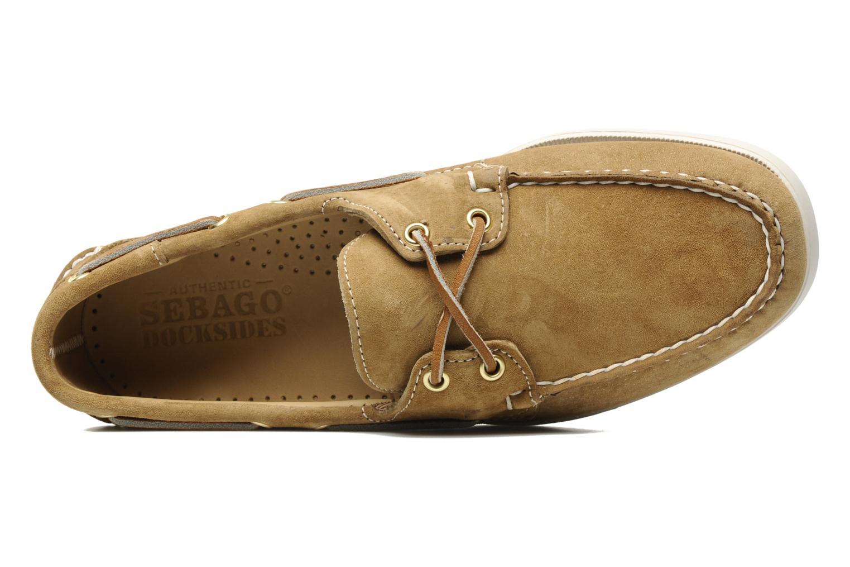 Chaussures à lacets Sebago Docksides M Beige vue gauche
