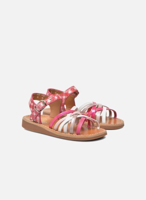 Sandales et nu-pieds Pom d Api Yapo Lux Rose vue 3/4