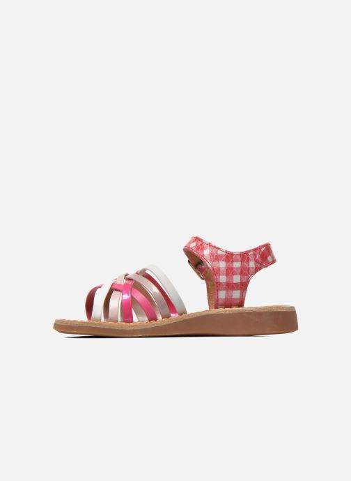 Sandales et nu-pieds Pom d Api Yapo Lux Rose vue face