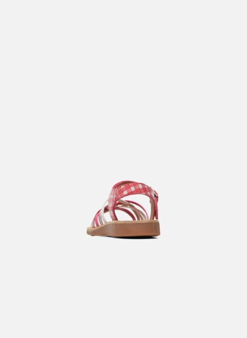 Sandales et nu-pieds Pom d Api Yapo Lux Rose vue droite