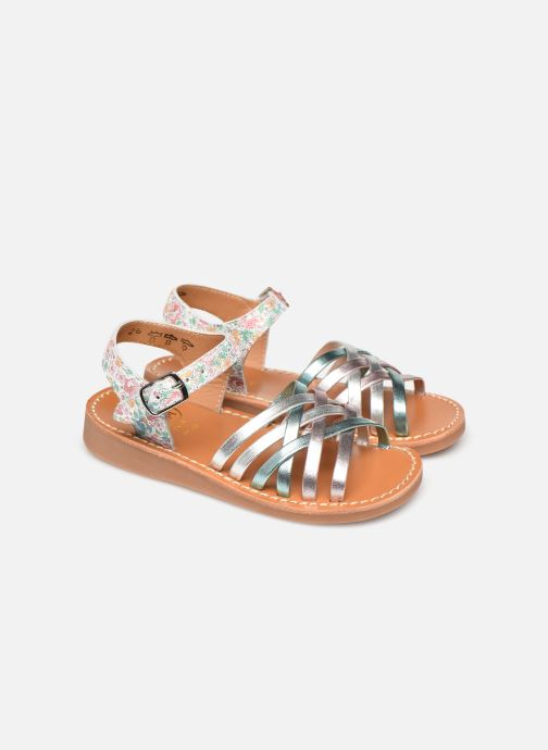 Sandales et nu-pieds Pom d Api Yapo Lux Argent vue 3/4