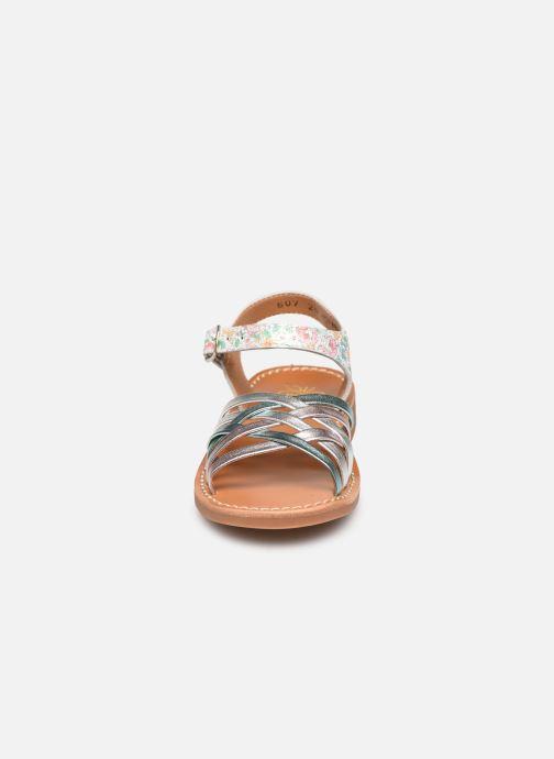 Sandales et nu-pieds Pom d Api Yapo Lux Argent vue portées chaussures