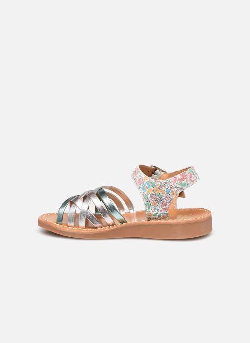 Sandales et nu-pieds Pom d Api Yapo Lux Argent vue face