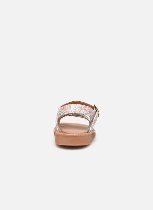 Sandales et nu-pieds Pom d Api Yapo Lux Argent vue droite