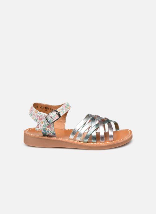 Sandales et nu-pieds Pom d Api Yapo Lux Argent vue derrière
