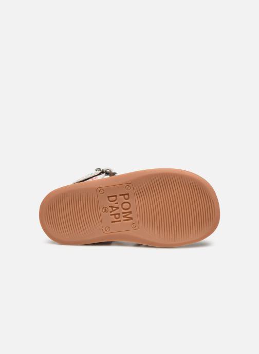 Sandales et nu-pieds Pom d Api Yapo Lux Argent vue haut