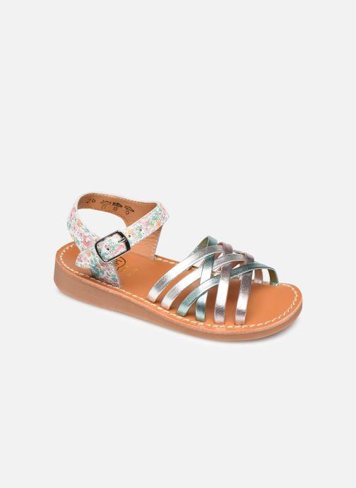 Sandales et nu-pieds Pom d Api Yapo Lux Argent vue détail/paire