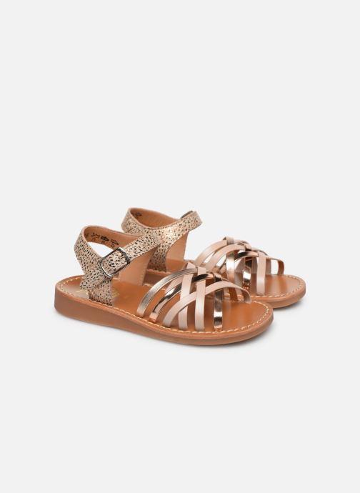 Sandales et nu-pieds Pom d Api Yapo Lux Or et bronze vue 3/4