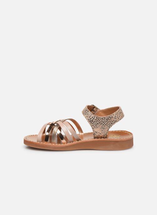 Sandales et nu-pieds Pom d Api Yapo Lux Or et bronze vue face