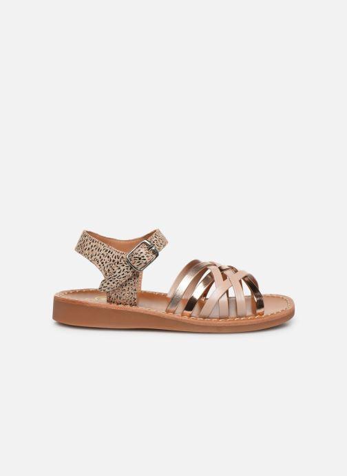Sandales et nu-pieds Pom d Api Yapo Lux Or et bronze vue derrière