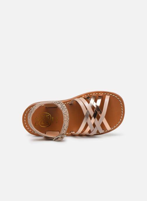 Sandales et nu-pieds Pom d Api Yapo Lux Or et bronze vue gauche