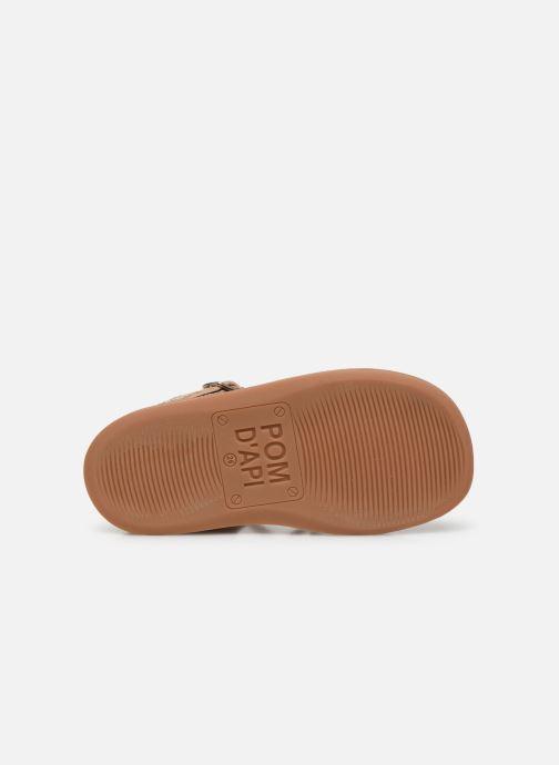 Sandales et nu-pieds Pom d Api Yapo Lux Or et bronze vue haut