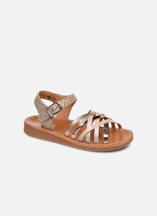 Sandales et nu-pieds Pom d Api Yapo Lux Or et bronze vue détail/paire