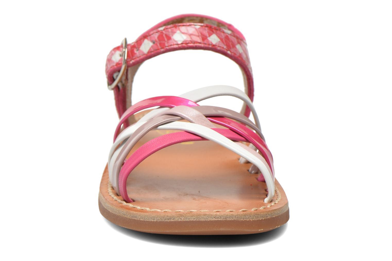 Sandales et nu-pieds Pom d Api Yapo Lux Rose vue portées chaussures