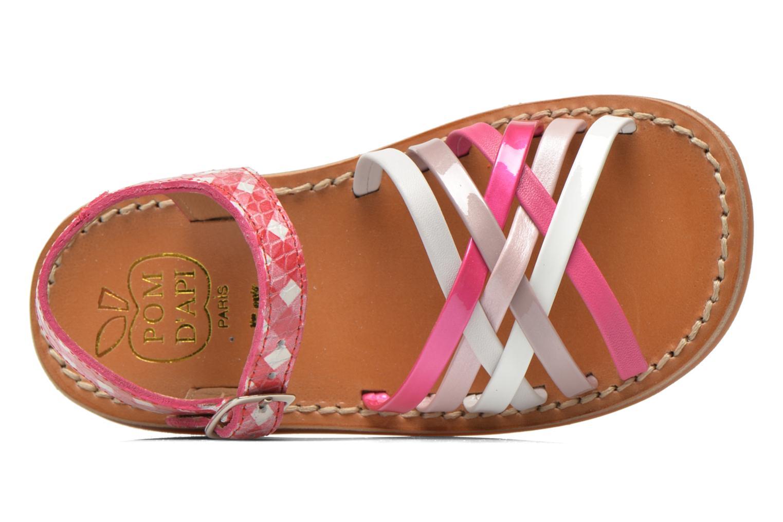 Sandales et nu-pieds Pom d Api Yapo Lux Rose vue gauche