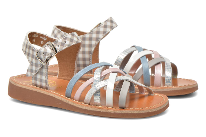 Sandales et nu-pieds Pom d Api Yapo Lux Multicolore vue 3/4