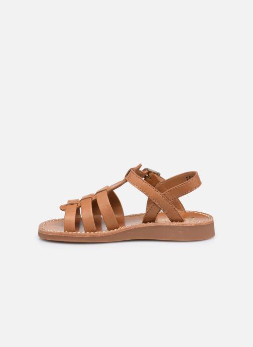 Sandali e scarpe aperte Pom d Api Yapo Strap Marrone immagine frontale