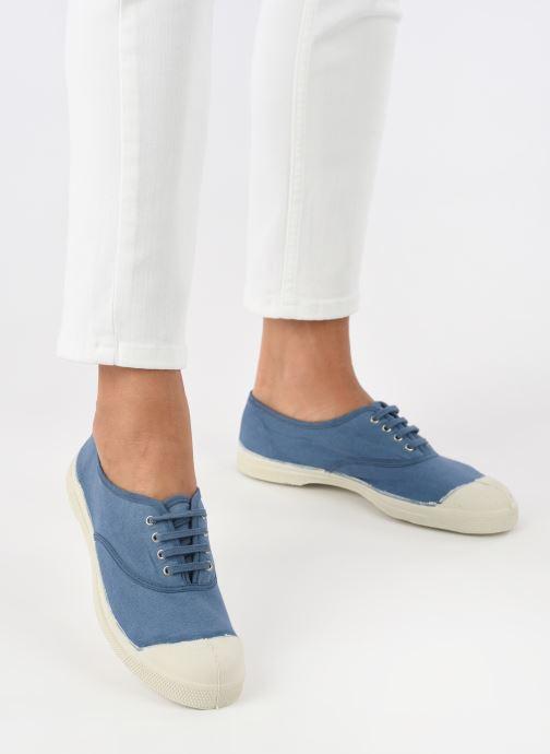 Baskets Bensimon Tennis Lacets W Bleu vue bas / vue portée sac