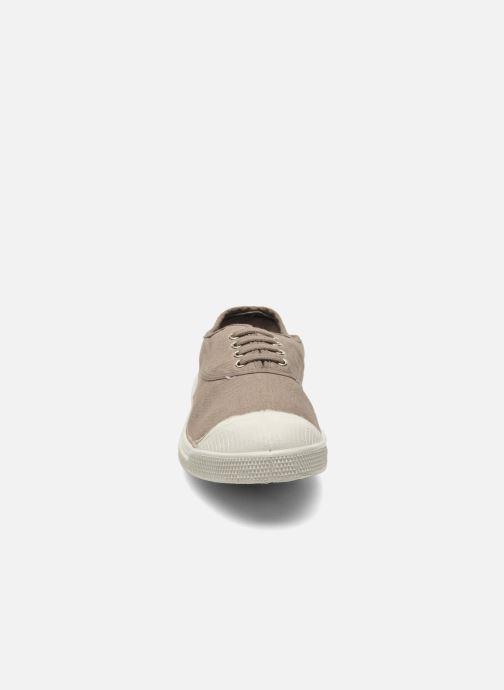 Sneaker Bensimon Tennis Lacets braun schuhe getragen