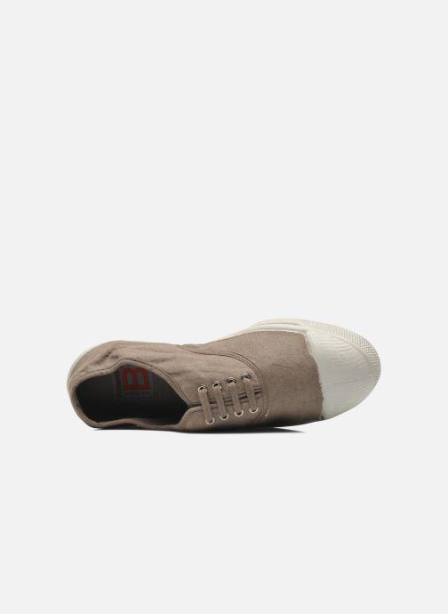 Sneaker Bensimon Tennis Lacets braun ansicht von links