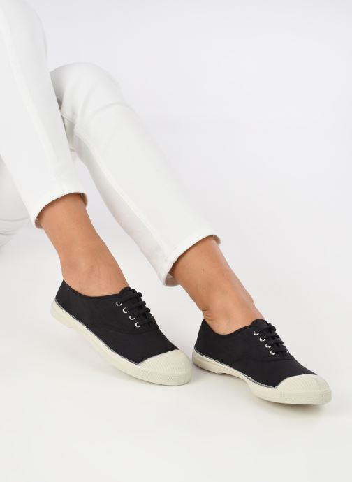 Sneaker Bensimon Tennis Lacets schwarz ansicht von unten / tasche getragen
