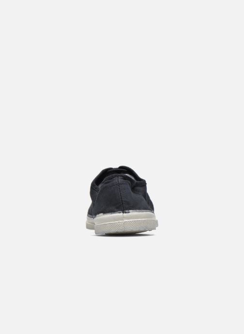 Trainers Bensimon Tennis Lacets Black view from the right
