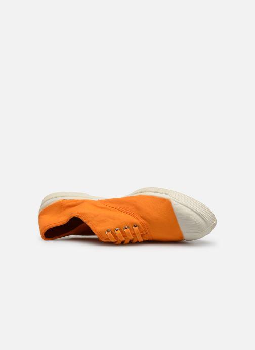 Deportivas Bensimon Tennis Lacets Naranja vista lateral izquierda