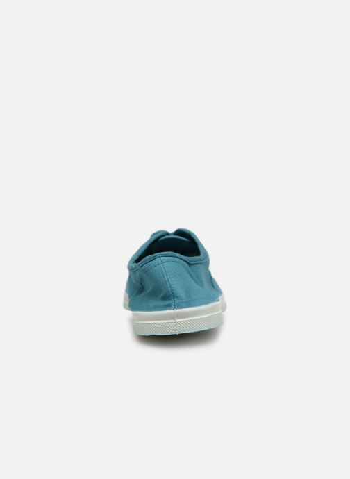 Trainers Bensimon Tennis Lacets Blue view from the right
