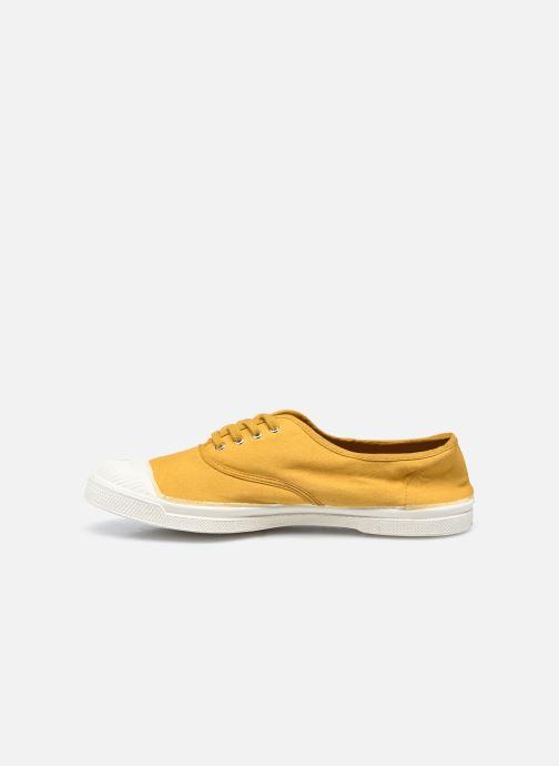 Sneaker Bensimon Tennis Lacets gelb ansicht von vorne